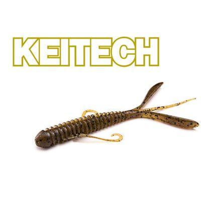 """Keitech 3"""" Hog Impact Green Pumpkin PP  7cm/1g/12pcs"""