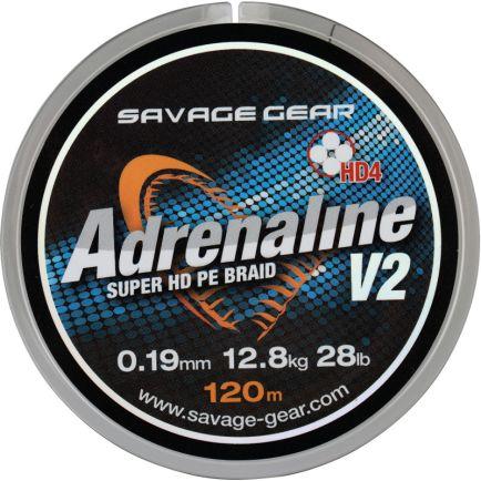 Savage Gear HD4 Adrenaline V2 Gunsmoke Grey 0.16mm/10.0kg/120m