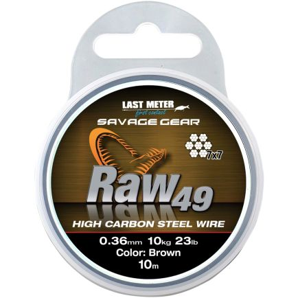 Savage Gear Raw 49 stainless steel wire 0.54mm/23kg/10m
