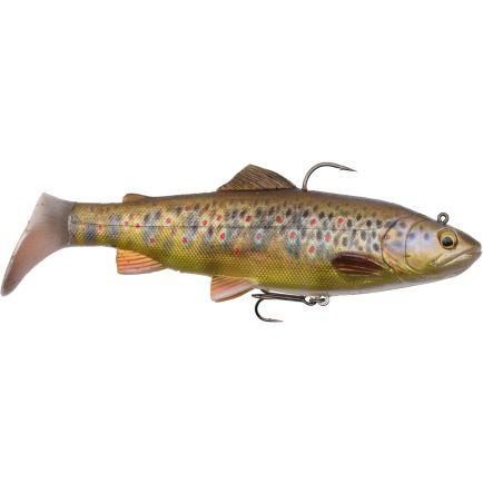 Savage Gear 4D Rattle Dark Brown Trout 17cm/80g