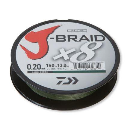 DAIWA J-Braid X8 Dark Green 0.22mm/17kg/150m