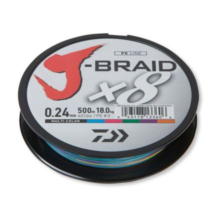 DAIWA J-Braid X8 Multi Color 0.22mm/17kg/150m