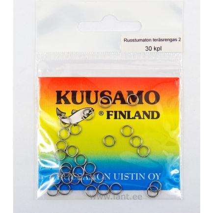 Kuusamo stainless steel split rings #5/20pc