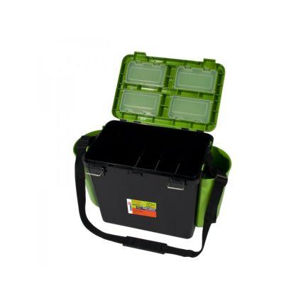 HELIOS Kalastuskast 19l madal roheline/must 432x255x320mm/max 130kg