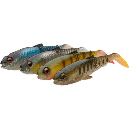Savage Gear Craft Cannibal Paddletail 12.5cm/20g Clear water mix 4pcs