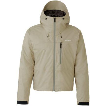 Shimano Durast Warm Short Rain Jacket Beige size XL