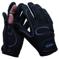 Lureshop.eu Neoprene 2 Cut Fingers Fishing Gloves Black size M